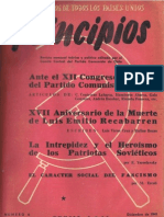 PRINCIPIOS N°6 - DICIEMBRE 1941 - PARTIDO COMUNISTA DE CHILE