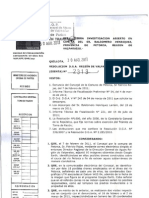 Resolución DGA respecto a la denuncia por Drenes Ilegales en Petorca  resolución 2313