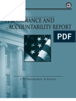 U.S. DOJ Performance and Accountability Report FY 2011