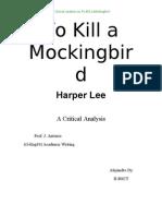 to kill a mockingbird essay to kill a mockingbird discrimination to kill a mockingbird critical analysis
