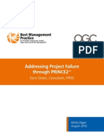 Addressing Project Failure Through PRINCE21