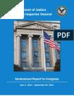 OIG of DOJ Report To Congress 040111-093011