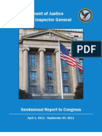 OIG of DOJ Report To Congress 040111-093011
