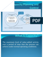 Capacity Planning and Control