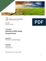 APEC Energy Economics Summary