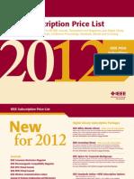 Ieee Sub Price List 2012