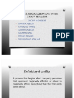 Conflict, Negociation & Inter Group Behavior