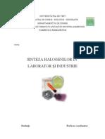sinteza halogenilor