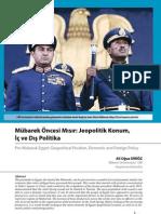 Mübarek Öncesi Mısır Jeopolitik Konum,İç ve Dış Politika