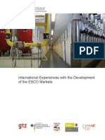 En International Experience Developing ESCO Markets