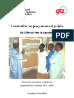 Projet lutte contre la pauvreté