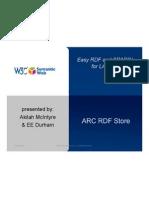 ARC RDF Store Presentation