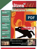 141 iraultzen (aldizkari sindikala, revista sindical, journal syndical)