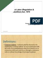 MIR CLR&a Act-labour