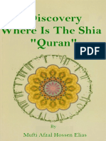 Discovery Where is the Shia Quran by Mufti Afzal Husain Elias
