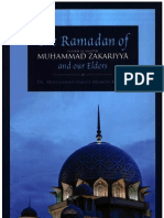 The Ramadan of Shaikh Al Hadith Muhammad Zakariyya and Our Elders by Dr Mohammad Ismail Memon Madani