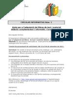 Circular Informativa n 1 Beques Llibres 11 12