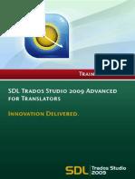 SDL Trados Studio 2009 for Translators - Advanced V1