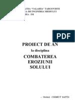 PROIECT COMBATEREA EROZIUNII