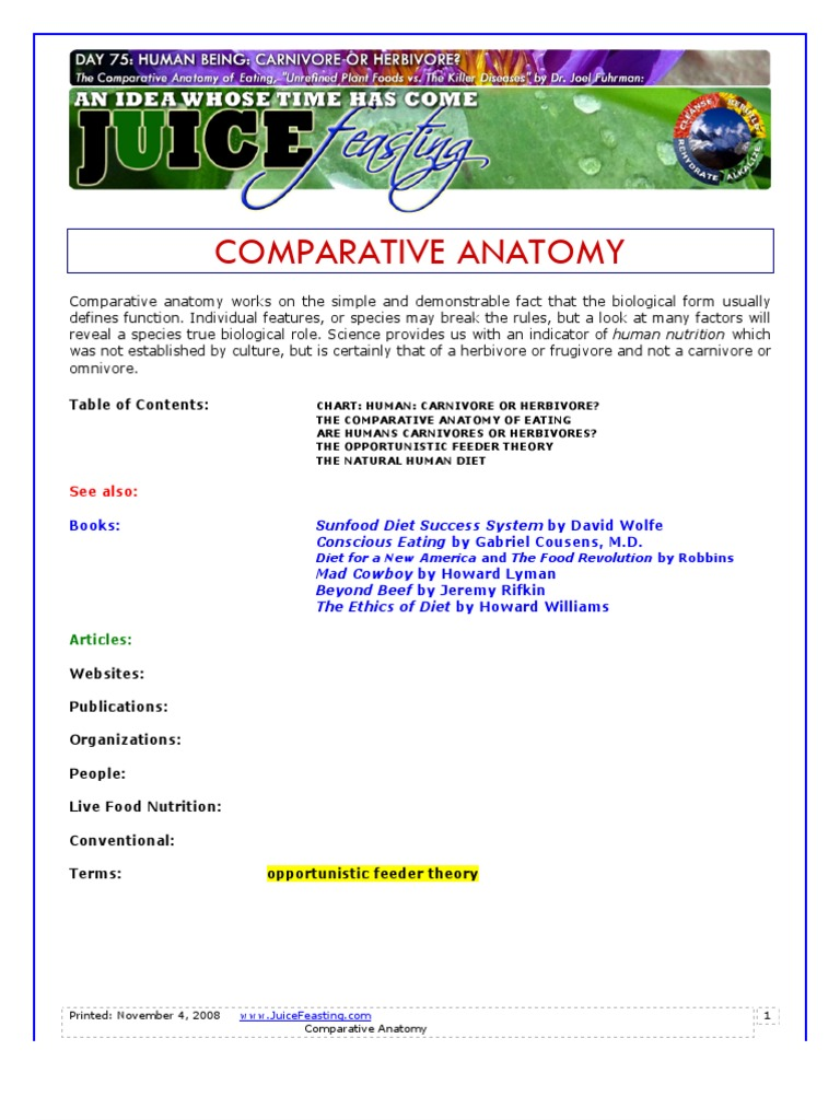 Comparative Anatomy | Digestion | Gastrointestinal Tract