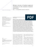 Biologic Outcome of Implant Supported Restorations in the Treatment of Partial Edentulism
