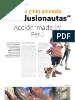 """El despegue del Cine Animado en Perú. Pelicula """"Los Ilusionautas"""""""