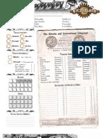 Victorian A 2e - Character Sheet