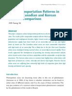 KimKwangSik-UrbanTransportationPatterns