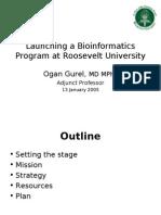Launching a Bioinformatics Program at Roosevelt University v2