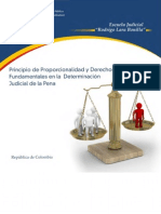 Principio de Proporcionalidad y Derechos Fund Amen Tales en La Determinacion Judicial de La Pena - Colombia