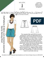 Hot Patterns Sarong.shorts_pattern