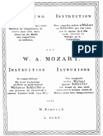 mozart Musikalisches Würfelspiel - dice waltz -Gioco per comporre musica con i dadi K.516f- IMSLP20432-PMLP47543