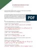 La meilleure méthode pour mémoriser le Coran
