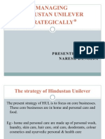 Managing Hindustan Unilever Strategically