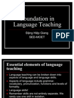 Foundation to Language Teaching