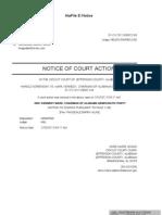 Alabama - Sorensen v Kennedy - Order of Dismissal