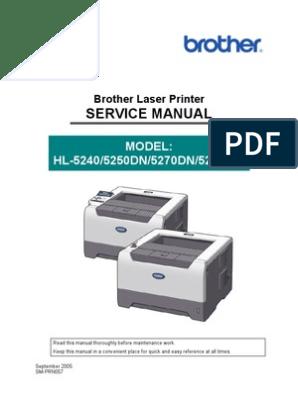 Brother Service Manual - 5240,5250D,5270DN | Printer