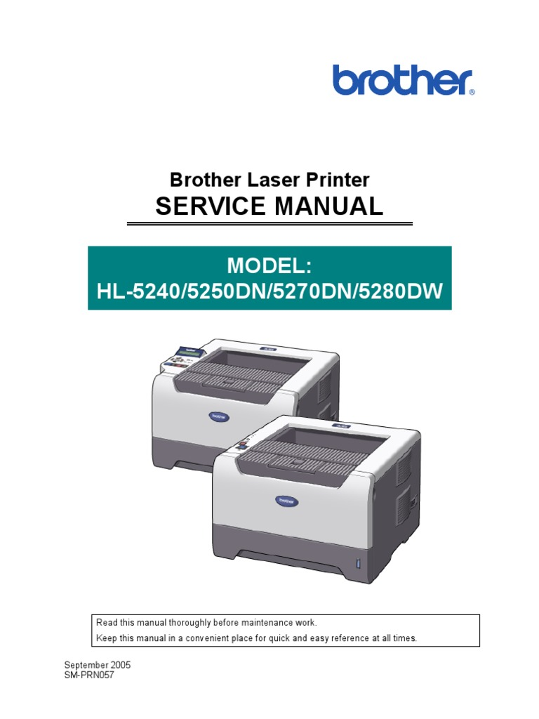 brother service manual 5240 5250d 5270dn printer computing rh scribd com Brother HL- 4070CDW Brother HL 4040Cn Troubleshooting