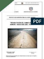 Rehabilitacion Camino Vecinal Namora Polloc