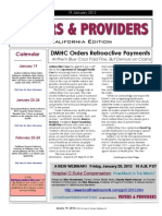 Payers & Providers California Edition – Issue of January 19, 2012