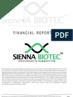 Financial Report 2011 - Sienna Biotec India