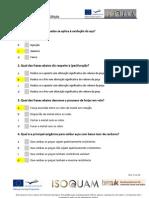 Portuguese Multiple Choice Test Summary