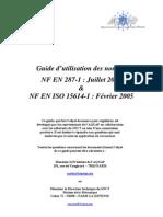 Guide d'Utilisation Des Normes NF en 287-1 Et NF en ISO 15614-1