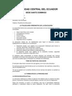 LA TELEOLOGÍA ORDENATIVA DE LA EDUCACIÓN SALOME