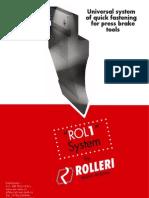 Sistemul Rolleri ROL1 - setare rapida a sculelor de abkant
