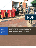 Justice for Serious Crimes Before Nat'l Cts - Uganda's ICD