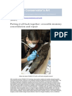 Lewis, A. Et Al. Cocodrile Mummy Consolidation and Repair. 2010