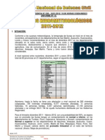 INFORME PRECIPITACIONES 2011-2012  Nº 038 - 18ENE 2012