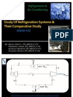 Study of Refrigeration Systems