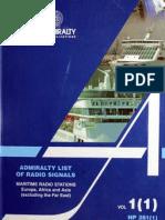 Admirality List of Radio Signals (Vol 1)